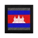 Bandeira moderna do Cambodian do teste padrão Caixa De Persentes