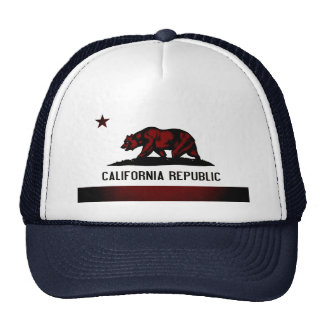 Bandeira monocromática de Califórnia Bonés