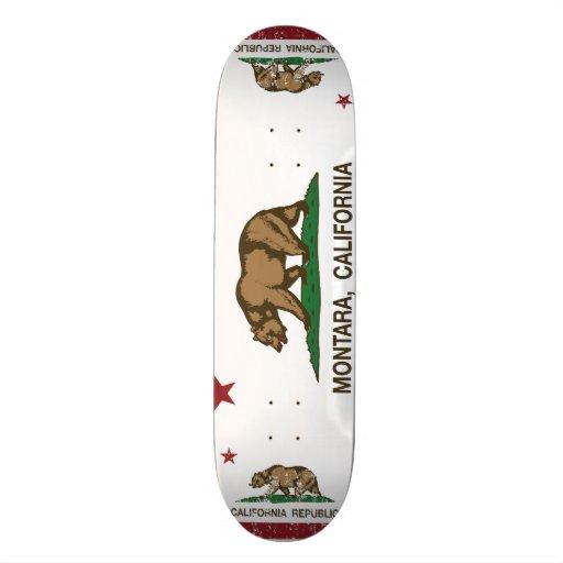 Bandeira Montara da república de Califórnia Skate