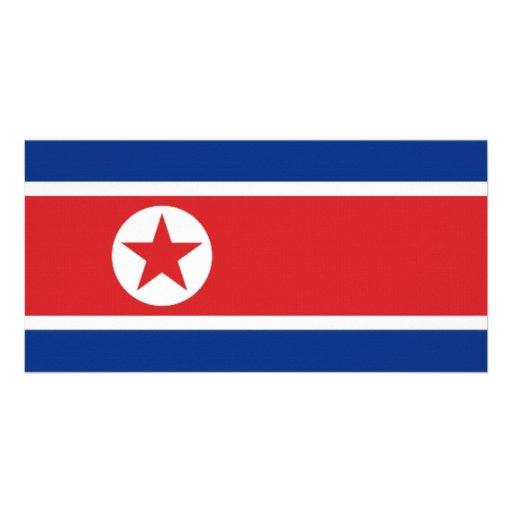 Bandeira nacional da Coreia do Norte Cartoes Com Fotos Personalizados