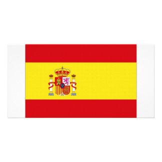 Bandeira nacional da espanha simplificada cartão com foto