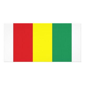 Bandeira nacional da Guiné Cartão Com Fotos Personalizado