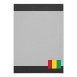 Bandeira nacional da Guiné Convite 12.27 X 17.78cm