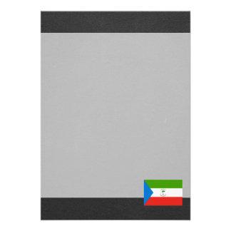 Bandeira nacional da Guiné Equatorial Convite 12.27 X 17.78cm
