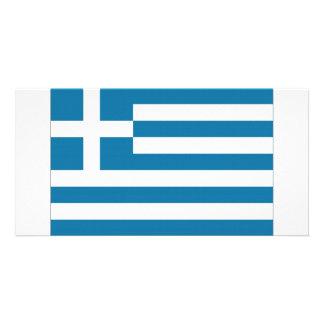 Bandeira nacional da piscina cartão com foto