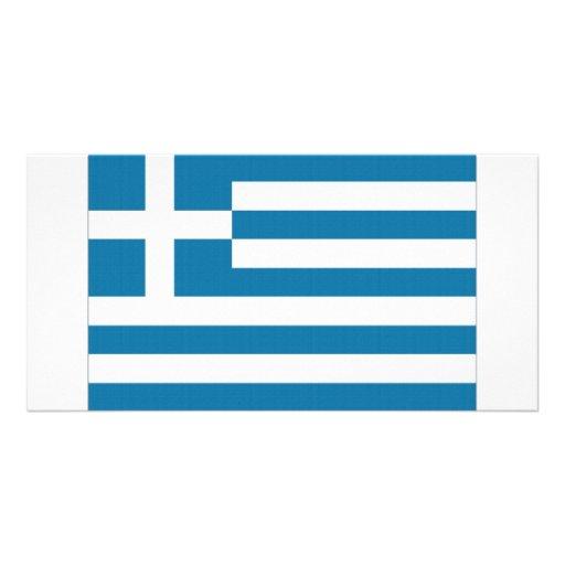 Bandeira nacional da piscina cartão com foto personalizado