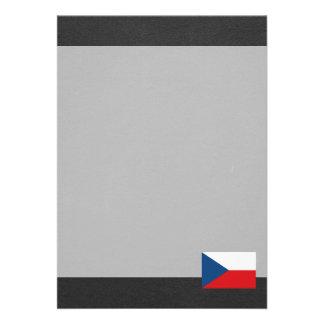 Bandeira nacional da república checa convite 12.27 x 17.78cm
