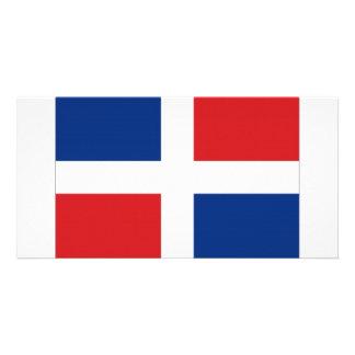 Bandeira nacional da República Dominicana Cartao Com Foto