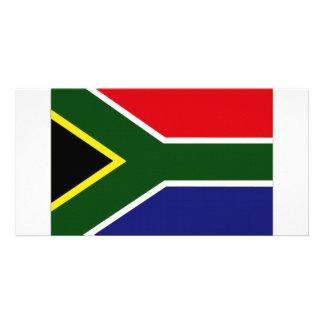 Bandeira nacional de África do Sul Cartão Com Foto