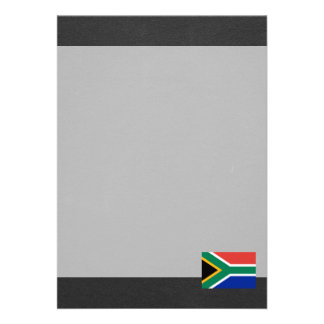 Bandeira nacional de África do Sul Convite 12.27 X 17.78cm