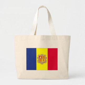 Bandeira nacional de Andorra Sacola Tote Jumbo