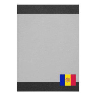 Bandeira nacional de Andorra Convite 12.27 X 17.78cm