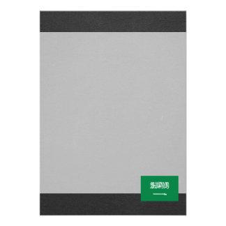 Bandeira nacional de Arábia Saudita Convite 12.27 X 17.78cm