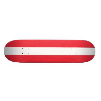 Bandeira nacional de Áustria Shape De Skate 18,4cm