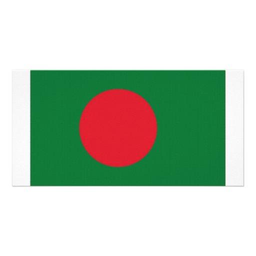 Bandeira nacional de Bangladesh Cartão Com Foto