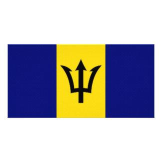 Bandeira nacional de Barbados Cartão Com Foto
