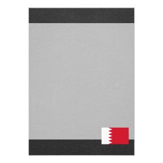 Bandeira nacional de Barém Convite 12.27 X 17.78cm