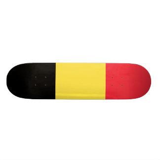 Bandeira nacional de Bélgica Shape De Skate 20cm