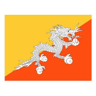 Bandeira nacional de Bhutan Cartão Postal