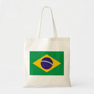 Bandeira nacional de Brasil Sacola Tote Budget