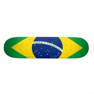 Bandeira nacional de Brasil, cor exata da Shape De Skate 21,6cm
