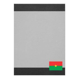 Bandeira nacional de Burkina Faso Convite 12.27 X 17.78cm