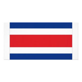 Bandeira nacional de Costa Rica Cartão Com Foto