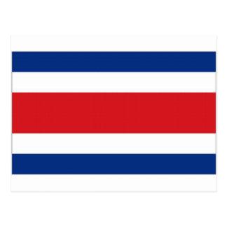 Bandeira nacional de Costa Rica Cartão Postal
