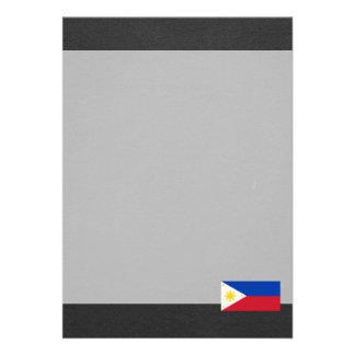 Bandeira nacional de Filipinas Convite 12.27 X 17.78cm