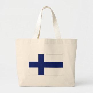 Bandeira nacional de Finlandia Bolsas Para Compras