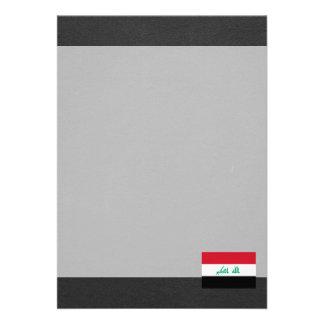 Bandeira nacional de Iraque Convite 12.27 X 17.78cm
