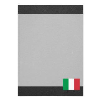 Bandeira nacional de Italia Convite 12.27 X 17.78cm