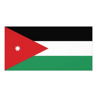 Bandeira nacional de Jordão Cartão Com Foto