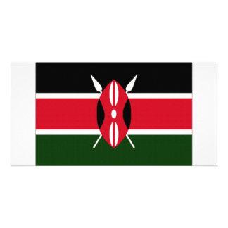 Bandeira nacional de Kenya Cartão Com Foto