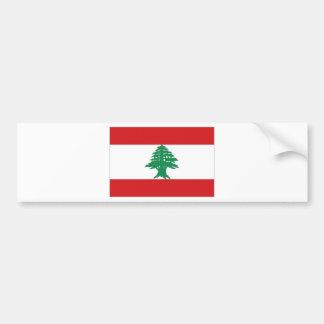 Bandeira nacional de Líbano Adesivo