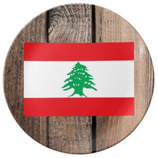 Bandeira nacional de Líbano Louça