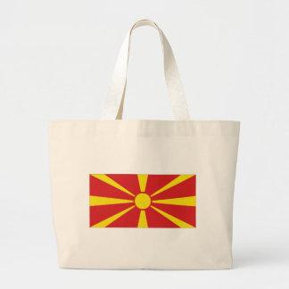 Bandeira nacional de Macedónia Sacola Tote Jumbo