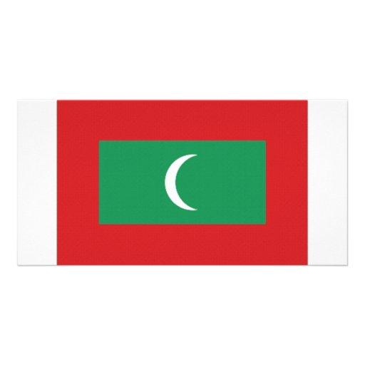 Bandeira nacional de Maldives Cartão Com Fotos