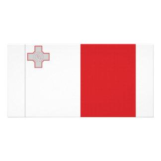 Bandeira nacional de Malta Cartao Com Fotos Personalizado