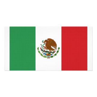 Bandeira nacional de México Cartoes Com Foto Personalizados