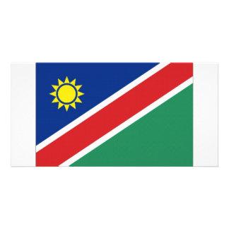 Bandeira nacional de Namíbia Cartao Com Fotos Personalizado