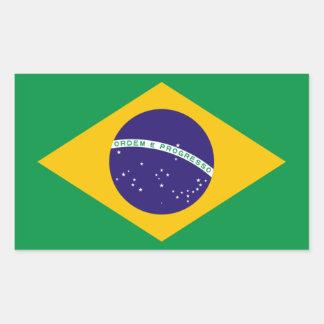 Bandeira nacional de QUATRO Brasil Adesivo Retangular