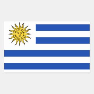 Bandeira nacional de QUATRO Uruguai Adesivo Retangular