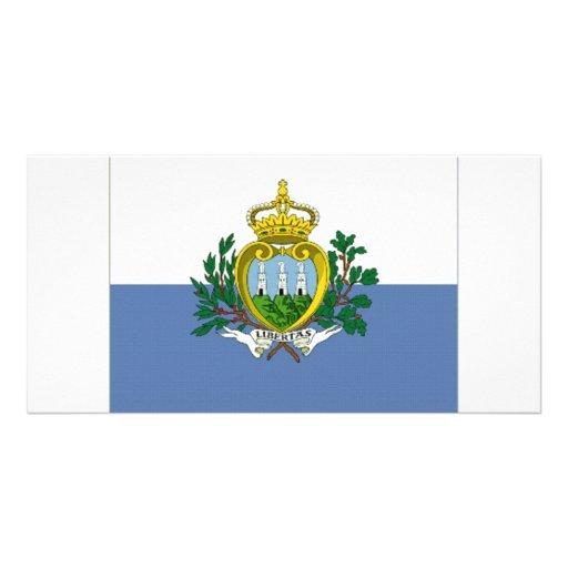 Bandeira nacional de San Marino Cartoes Com Foto Personalizados