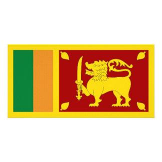 Bandeira nacional de Sri Lanka Cartão Com Foto