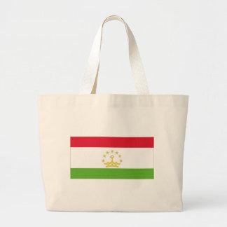 Bandeira nacional de Tajikistan Sacola Tote Jumbo