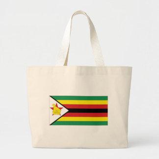Bandeira nacional de Zimbabwe Sacola Tote Jumbo