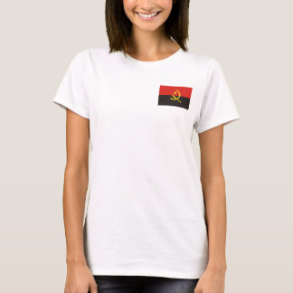 Bandeira nacional do mundo de Angola Camiseta