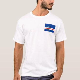 Bandeira nacional do mundo de Cabo Verde Camiseta