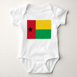 Bandeira nacional do mundo de Guiné-Bissau Body Para Bebê